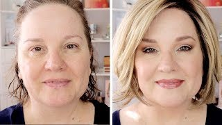 FULL-FACE Makeup Tutorial for MATURE WOMEN / Neutral Eyes / Soft Everyday Look