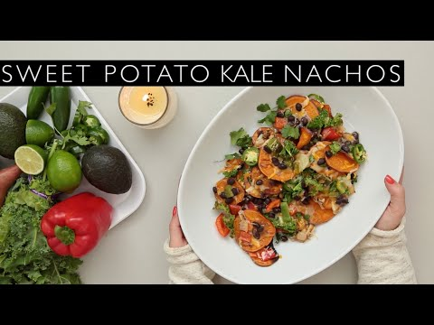COOKING WITH LAUREN: SWEET POTATO KALE NACHOS!