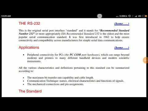 RS 232 Serial communication | RS 232 interface in hindi | RS 232 standard introduction in HINDI