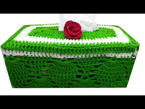 How To Crochet Tissue Box Cover|| by shaiza's Crochet-Episode 88