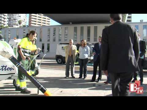 Vehículos eléctricos para limpieza viaria urbana