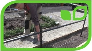 Wie werden die Harrod Stepover-Zäune aufgebaut?