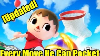 Seems I missed a lot of things villager can pocket so here is an updated video on that!