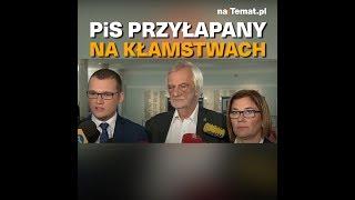 PiS przyłapany na kłamstwach.