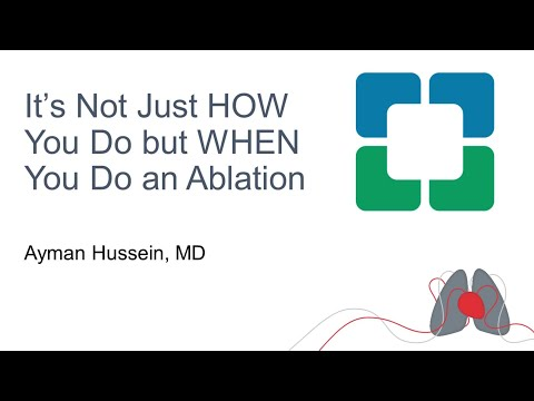 It's Not Just HOW You Do but WHEN You Do an Ablation