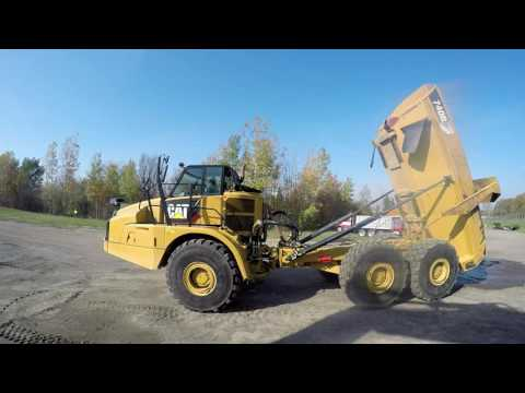 CATERPILLAR CAMIONES ARTICULADOS 740B equipment video OvFZVmsQeaQ