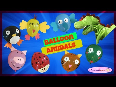 Video How to make ANIMAL BALLOONS with DinoBaby | Crafts For Kids download in MP3, 3GP, MP4, WEBM, AVI, FLV January 2017