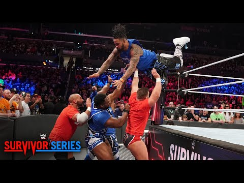 Download The Usos fly high to opening victory for Team SmackDown: Survivor Series 2018 Kickoff HD Mp4 3GP Video and MP3