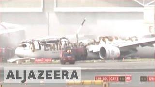 All passengers safe after Emirates Airline plane crash-lands in Dubai 🇦🇪 | Al Jazeera English