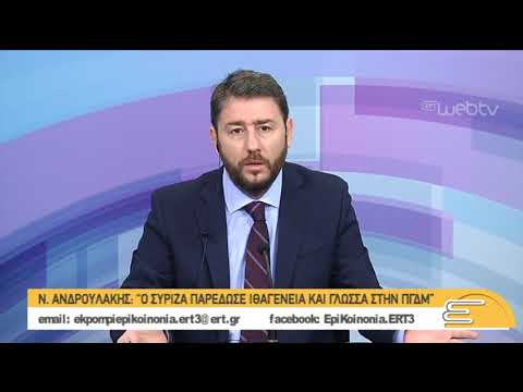 Ν.Ανδρουλάκης: Αν είχε προηγηθεί το συνέδριο  θα είχαμε αποφύγει τις αποχωρήσεις | 04/02/2019 | ΕΡΤ