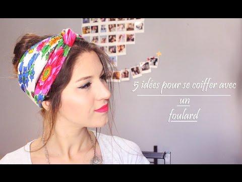 [ Tutoriel Coiffure n°9] : 5 idées pour se coiffer avec un foulard ❀