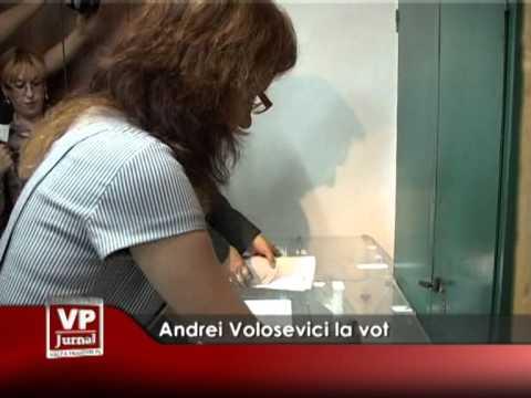 Andrei Volosevici la vot