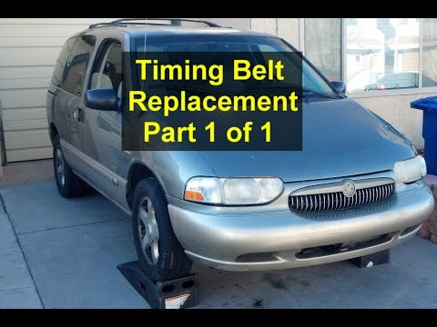 Timing belt replacement, Mercury Villager, Nissan Quest, Pathfinder, QX4, Frontier, Xterra. 1 of 3