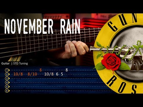 November Rain Solo – Guns 'N Roses – Acoustic Guitar Tutorial TABS | Cover Christianvib