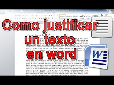 Como Justificar Un Texto En WORD | Rápido Y Simple.
