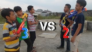 Video Nerf War : 2 vs 3! MP3, 3GP, MP4, WEBM, AVI, FLV November 2017