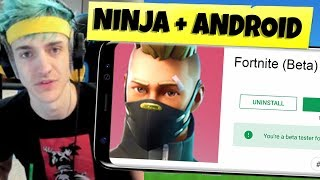 NINJA will Release Fortnite Mobile ANDROID!