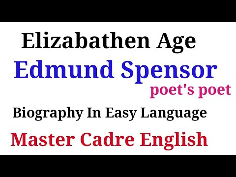 #14 ||Punjab Master Cadre English || Edmund Spensor|| poet's poet|| Metaphysical poet || Biography