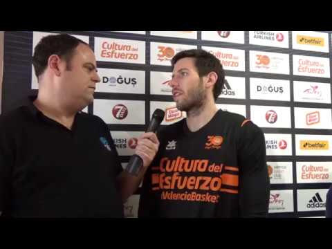 Video interview, Game 1: Sam Van Rossom, Valencia Basket