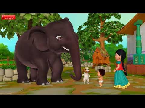 யானை யானை யானை | Tamil Rhymes for Children | Infobells