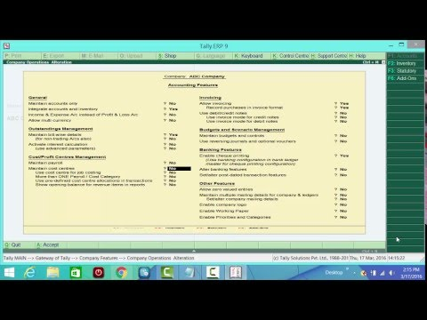 Tally ERP 9 Professional Video Tutorial in Bangla part 01