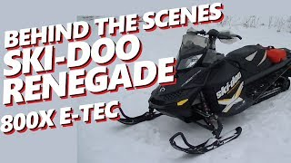 2. BEHIND THE SCENES:  2012 Ski-Doo Renegade X 800 e-tec REVIEW