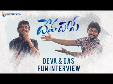 Funny movies - Nagarjuna and Nani Funny Interview  #Devadas Movie