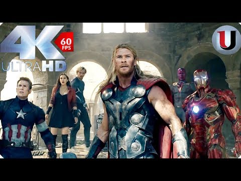 Avengers vs Ultron Final Battle - Avengers Age of Ultron 2015 Movie Clip (4K HD)