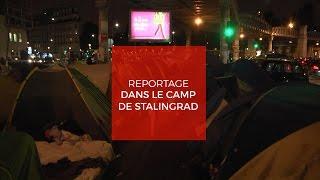 Reportage dans le camp de migrants de Stalingrad à Paris