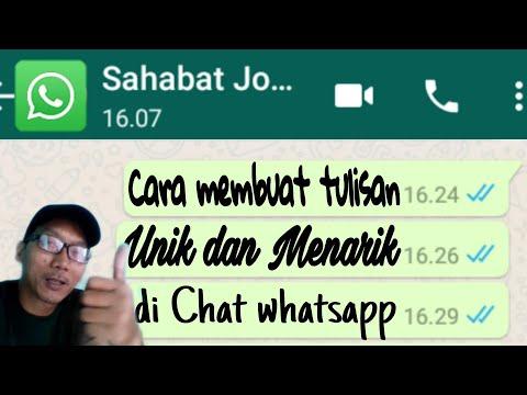 5 Cara Membuat tulisan unik dan menarik di Whatsapp tanpa aplikasi tambahan