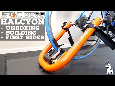 STAC Zero Halcyon Smart Trainer Unboxing  Building  First Rides
