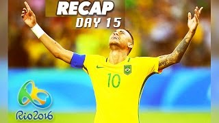 Rio Olympics 2016 highlights, results, & the Neymar Jr. goal in Brazil vs Germany! Day 15 of the Rio Olympics 2016 has finished, so I am again simplifying the hours upon hours of sports shown on TV today to a short video featuring the highlights, gold medal winners, and world records broken, if any.This is a video for the Rio Olympics on August 20, 2016, and I'll be doing a new compilation video every day until the Olympics are over on August 21st. Make sure to subscribe to Culture Vulture for more videos:https://www.youtube.com/c/culturevultureHighlights:Mo Farah wins another gold medal in men's 5000m running, adding another medal to the one he earned a few days agoBrazil vs Germany in soccer ended up with Brazil winning gold thanks to an amazing penalty shootout goal from Neymar Jr.Gold medal winners:Chen Long of China wins Gold in Men's badminton singlesUSA wins Gold in Women's basketball, def. Spain 101-72Nicola Adams of Great Britain wins Gold in Women's fly boxingRobeisy Ramirez of Cuba wins Gold in Men's bantam boxingArlen Lopez of Cuba wins Gold in Men's middleweight boxingLiam Heath of Great Britain wins Gold in 200m kayak sprintSebastian Brendel & Jan Vandrey of Germany win Gold in Men's canoe doubleHungary wins Gold in Women's 500m kayak fourGermany wins Gold in Men's 1000m kayak fourJenny Rissveds of Sweden wins Gold in Women's cross-country cyclingChen Aisen of China wins Gold in Men's 10m platform divingInbee Park of South Korea wins Gold in Women's golfRussia wins Gold in Women's handball, def. France 22-19Alexander Lesun of Russia wins Gold in Men's modern pentathlonMargarita Mamun of Russia wins Gold in Women's all-around gymnasticsGwen Jorgensen of USA wins Gold in Women's triathlonSerbia wins Gold in Men's water polo, def. Croatia 11-7Abdulrashid Sadulaev of Russia wins Gold in Men's 86kg freestyle wrestlingTaha Akgul of Turkey wins Gold in Men's 125kg freestyle wrestlingBrazil wins Gold in Men's soccer (football) def. Germany 5-4 in a penalty sho