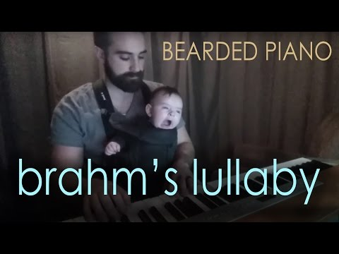 Baby Falls Asleep as Daddy Plays Brahm s Lullaby