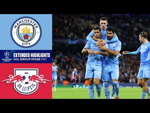 Man. City vs. RB Leipzig: Extended Highlights | UCL Group Stage MD 1 | CBS Sports Golazo