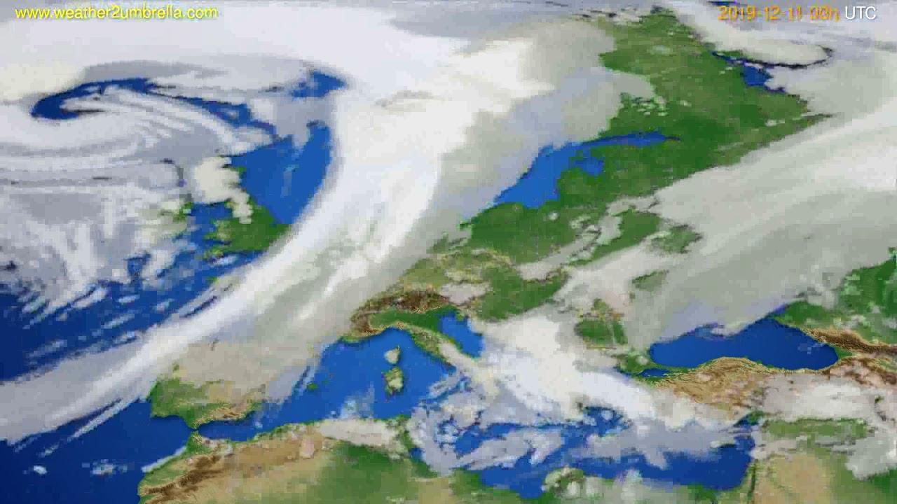 Cloud forecast Europe // modelrun: 00h UTC 2019-12-10