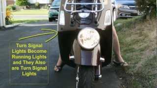 6. LED Lights on my Vespa GTV-300 Day Time