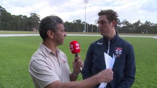 Sydney University coach Daniel Gilmore chats to NITV after the Students' nine-point thriller against Southport in Round 19.