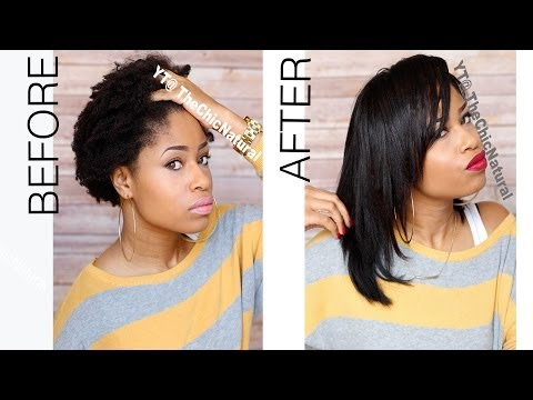 Hair - Straightened my natural hair. -PRODUCTS USED- Aphogee Keratin Green Tea Restructurizer One & Only Argan Oil Ecostyler Gel Aussie Hair Insurance Heat Protecto...
