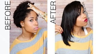 How To: Straightening My Natural Hair - YouTube