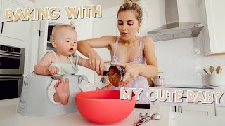 attempting to bake vegan muffins with my baby! by Aspyn + Parker