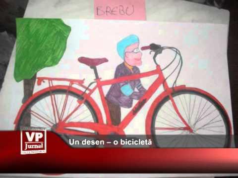 Un desen – o bicicletă
