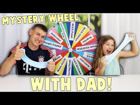 Mystery Wheel of Slime Switch Up Challenge! Father's Day Edition!