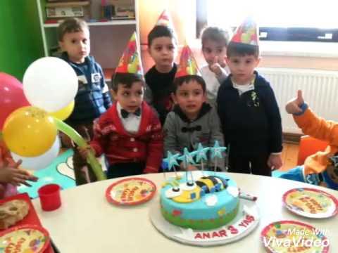 """""""Dahi Uşaqlar Mərkəzin""""də """"Mini bağça' proqramından Anar balamızın doğum günü.Teb"""