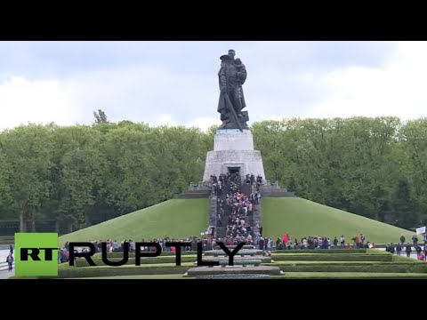 Victory Day celebrations at the Soviet War Memorial in Berlin
