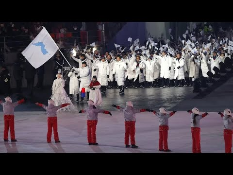 23. Winterspiele eröffnet: Nord- und südkoreanische A ...