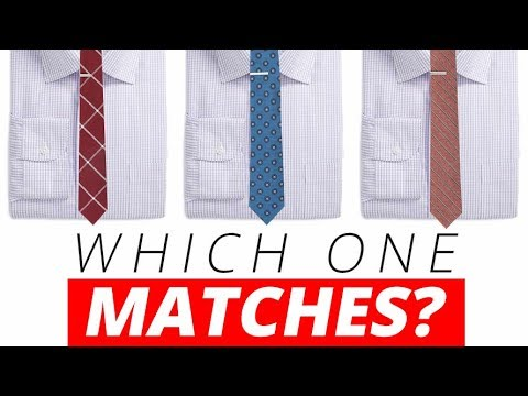 Matching Shirts & Neckties Every Time | Best Dress Shirt & Tie Combinations