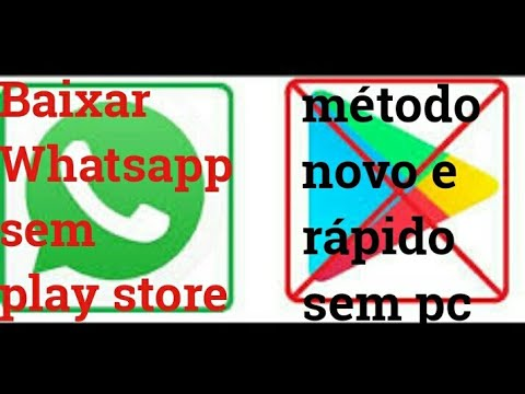 Como baixar whatsapp sem play store método  rápido e fácil  2017