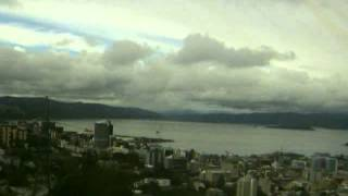 Wellington, NZ - Timelapse of Thursday the 16th of August 2012