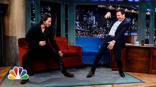 Keanu Reeves Defends Jimmy's T'ai Chi (Late Night with Jimmy Fallon)