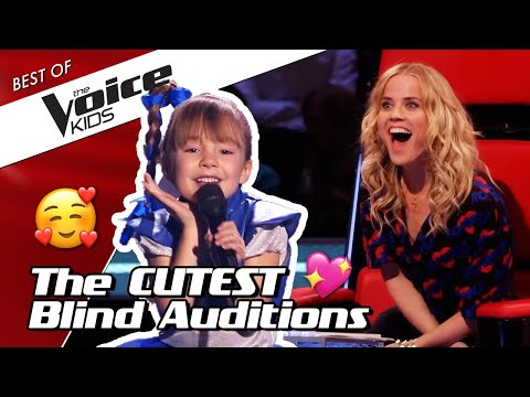 TOP 10   The CUTEST Blind Auditions in The Voice Kids 😍❤️ (part 2)
